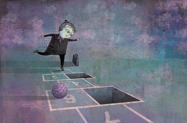 Dennis Wunsch Art Print featuring the digital art Hopscotch2 by Dennis Wunsch