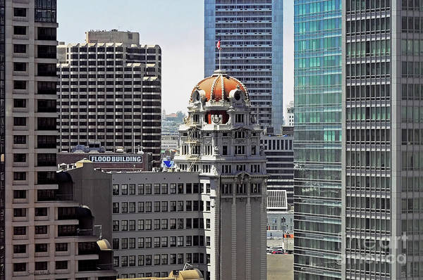 Susan Wiedmann Art Print featuring the photograph Old Humboldt Bank Building In San Francisco by Susan Wiedmann