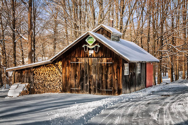Sugar Shack Art Print featuring the photograph Sugar Shack - Southbury Connecticut by Thomas Schoeller