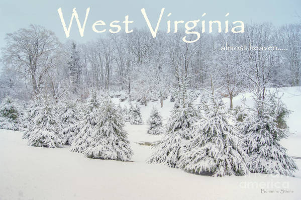 West Virginia Art Print featuring the photograph Winter In West Virginia by Benanne Stiens