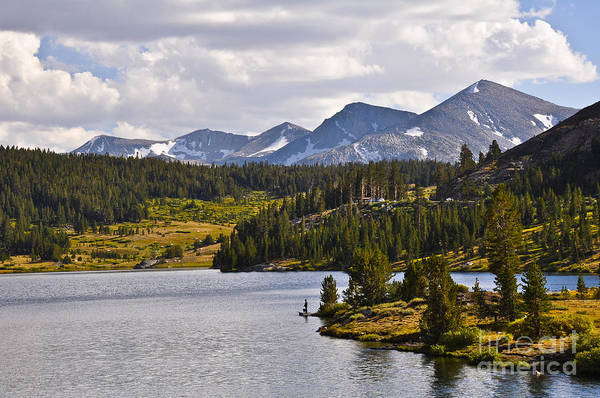 Landscape Art Print featuring the photograph Ellery Lake by Camille Lyver