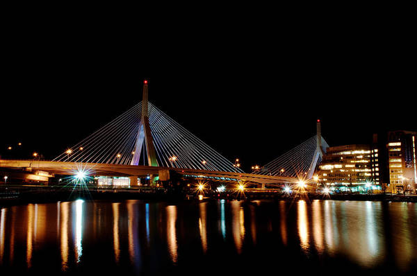 Bridge Art Print featuring the digital art Zakim Over The Charles River by Richard Bramante