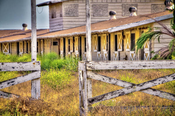 2011 Art Print featuring the photograph Abandoned Horse Stables by Connie Cooper-Edwards