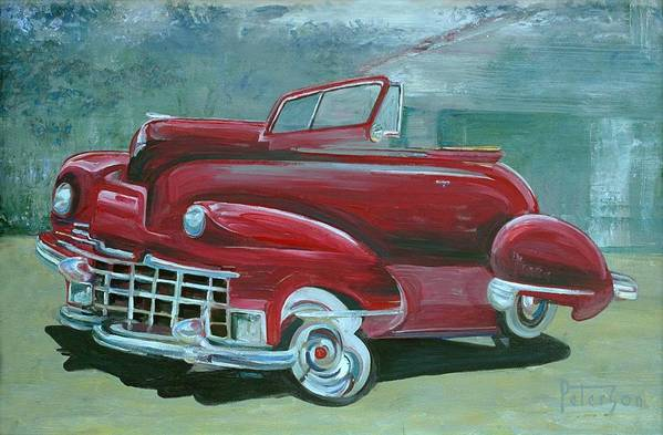 1947 Cadillac Art Print featuring the painting Cadillac 47 by Gary Peterson