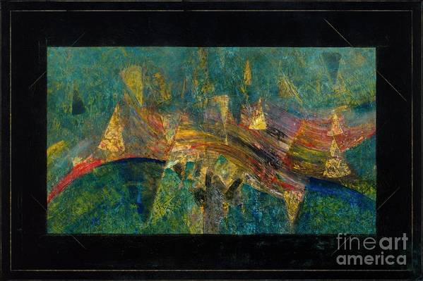 Abstract Painting Art Print featuring the painting Dancing Through Water by Paul Walden