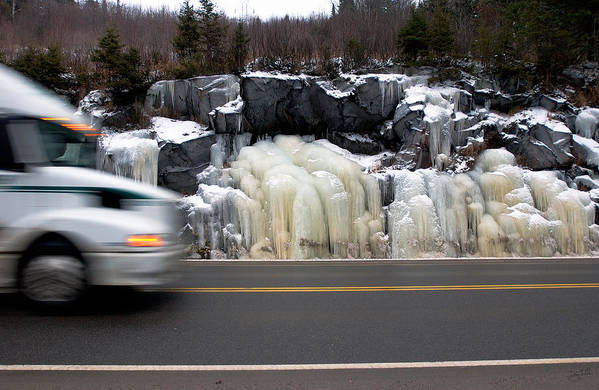 Hwy Art Print featuring the photograph Hwy Ice  by Doug Gibbons