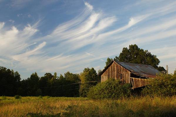 Barn Art Print featuring the photograph Painted Sky Barn by Benanne Stiens