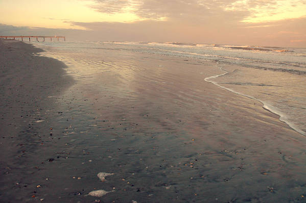 Sunset Art Print featuring the photograph Sunset On Saint Augustine Beach by Christine Cousart