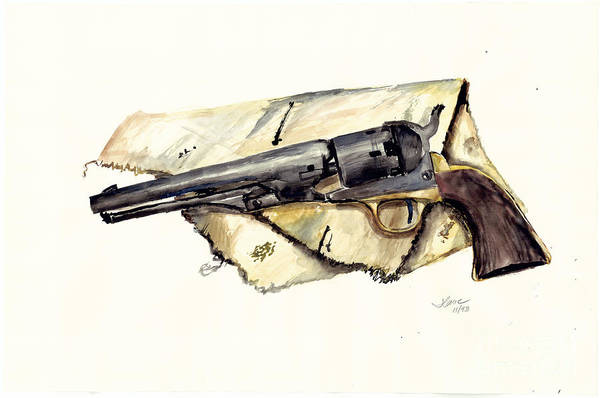 Watercolor Art Print featuring the painting The Old Colt by Jerry Cave