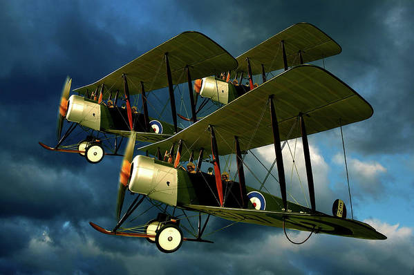 Bi Planes Art Print featuring the photograph Up In The Air by Steven Agius
