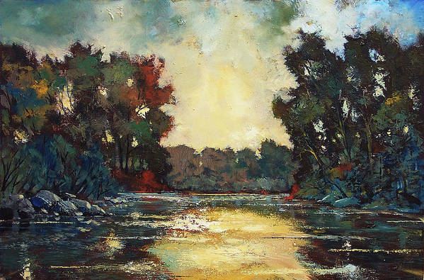 Ford Smith Art Print featuring the painting Calming Influence by Ford Smith