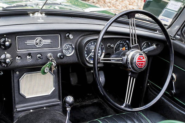 1967 Mgb Roadster Interior Art Print