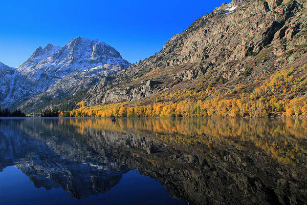 Silver Lake Art Print featuring the photograph Autumn At Silver Lake by Donna Kennedy
