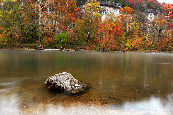 River Art Print featuring the photograph Autumn On Meramec River by Mike Davidson
