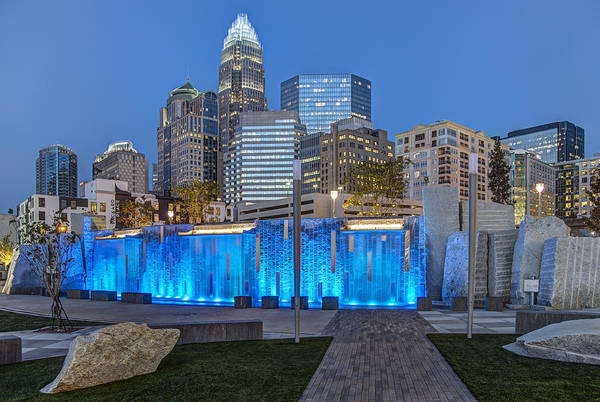 Romare Bearden Park Art Print featuring the photograph Bearden Blue by Chris Austin
