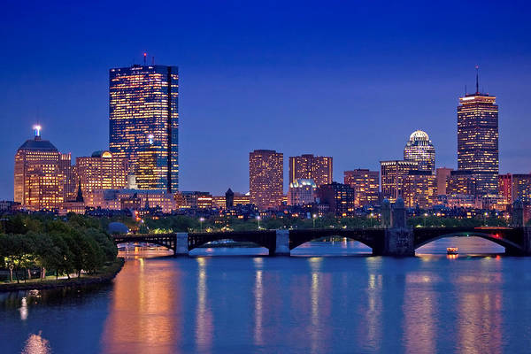 Boston Art Print featuring the photograph Boston Nights 2 by Joann Vitali