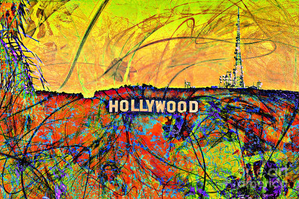 Los Angeles Art Print featuring the digital art Chaos by Az Jackson
