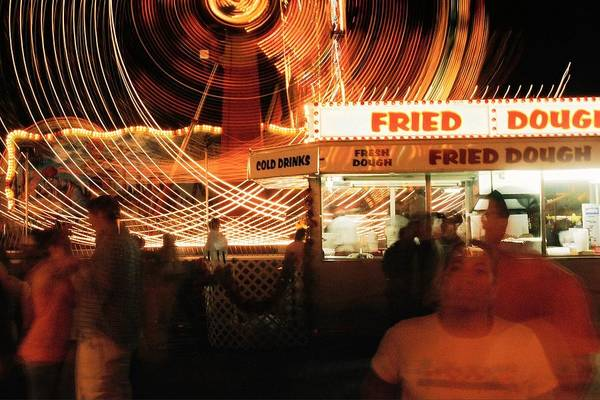 Fryeburg Art Print featuring the photograph Fryeburg Fair At Night Fried Dough by John B Poisson