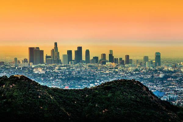 Los Angeles Art Print featuring the photograph Good Morning La by Az Jackson