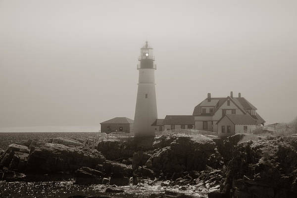 Atlantic Ocean Art Print featuring the photograph In The Mist by Joann Vitali