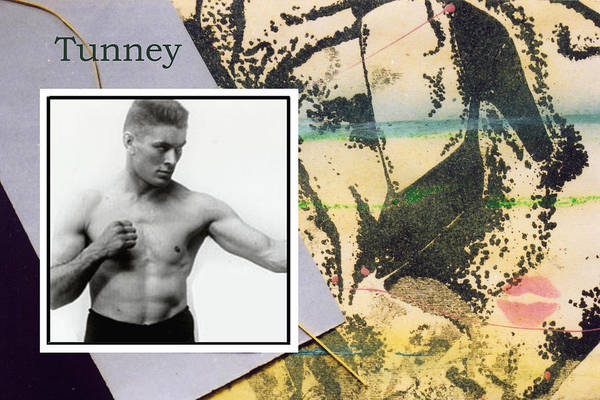 Boxers Art Print featuring the photograph Love And War Tunney by Mary Ann Leitch