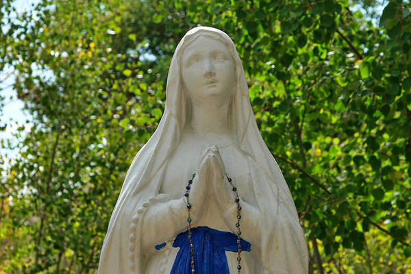Colorado Art Print featuring the photograph Mother Mary At Mother Cabrini by Robert Maestas