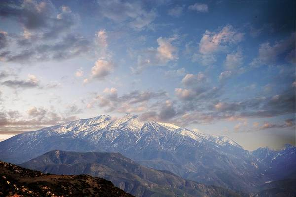 Mountains Print featuring the photograph Mountain Top by Athala Carole Bruckner