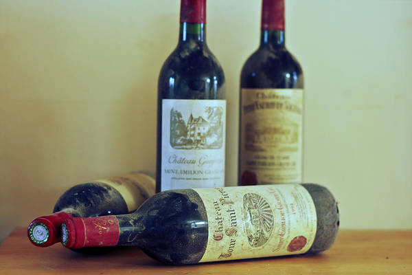 Saint Emilion Wine Art Print featuring the photograph On A French Shelf by Georgia Fowler
