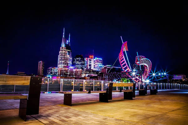 Nashville Art Print featuring the photograph Riverfront Vista by Lucas Foley