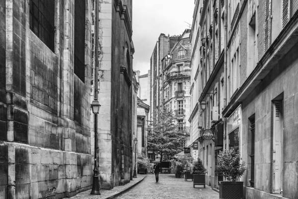 Paris Street Art Print featuring the photograph Route Parisian by Georgia Fowler