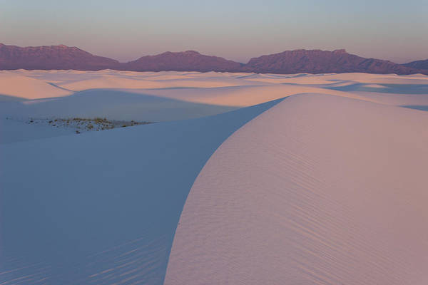 Art Print featuring the photograph Sunrise On White Sands by Daniel Sherman