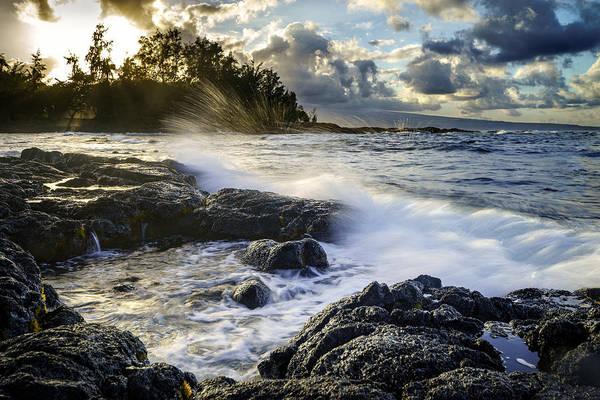 Big Island Art Print featuring the photograph Big Island - Sunset In Hilo by Francesco Emanuele Carucci