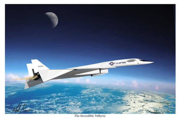 Aviation Art Print featuring the painting The Incredible Xb-70 Valkyrie by Mark Karvon