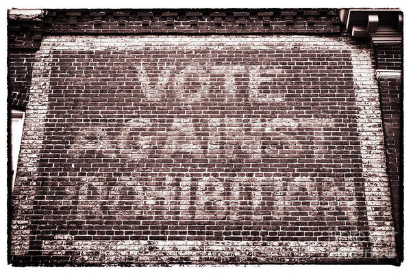 Vote Against Prohibition Art Print featuring the photograph Vote Against Prohibition II by John Rizzuto
