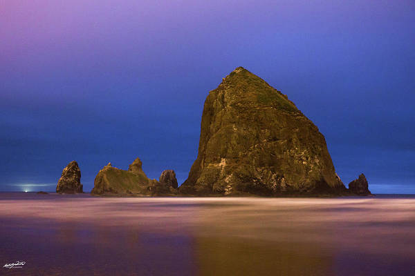 Oregon Art Print featuring the photograph Haystacks by Rowdy Winters