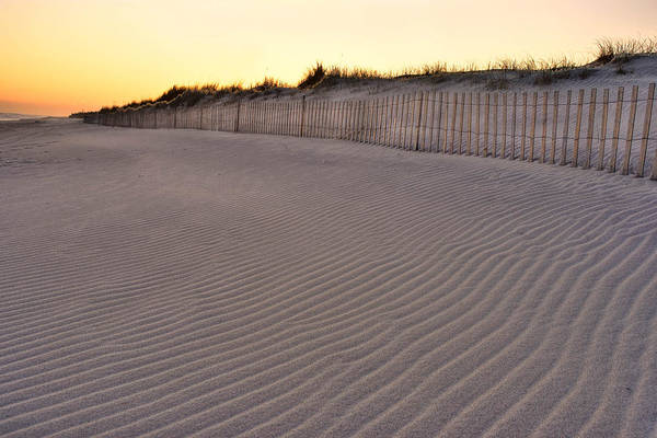 Beach Fence Art Print featuring the photograph Beach Fence Robert Moses State Park by Jim Dohms