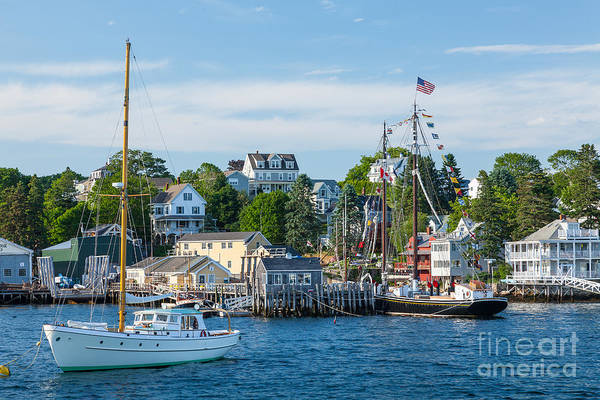 America Art Print featuring the photograph Boothbay Harbor by Susan Cole Kelly