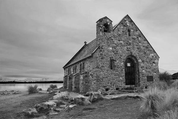 Landscape Art Print featuring the photograph Church Of The Good Shepherd by Andrea Cadwallader