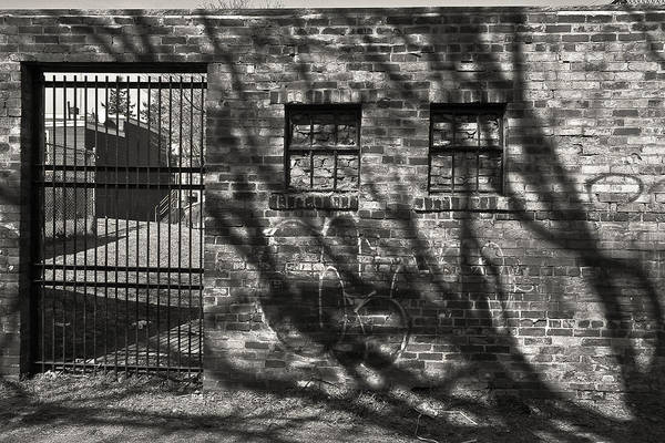 Black Art Print featuring the photograph 'city Jail' by Adam M Dee