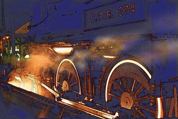 Train Art Print featuring the photograph Cpr 374 by Randall Paar