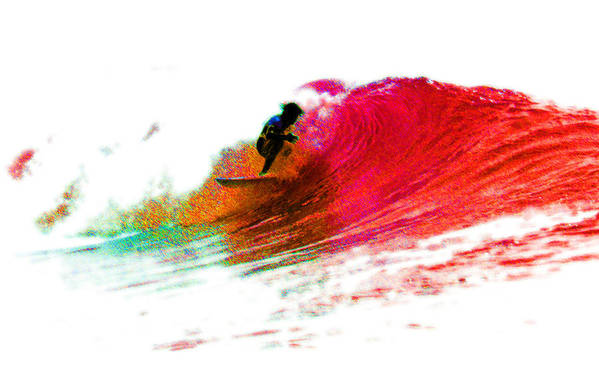Surf Art Print featuring the photograph Fire Water by David Coyle