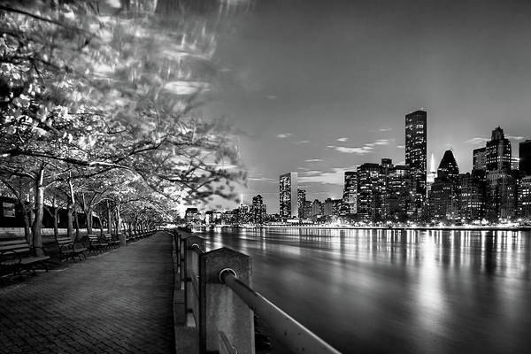 One World Trade Center Art Print featuring the photograph Front Row Roosevelt Island by Az Jackson