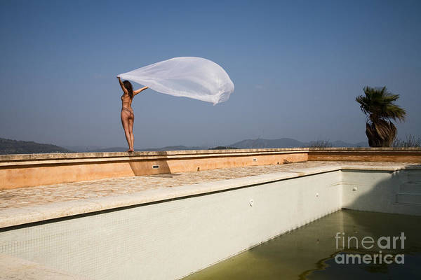 Sensual Art Print featuring the photograph I Will Fly To You by Olivier De Rycke