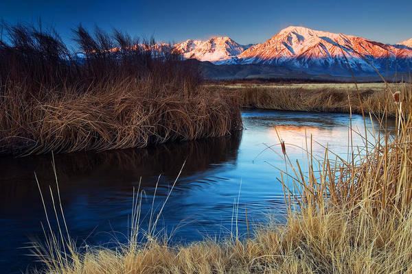 Eastern Sierra Art Print featuring the photograph Owens River Sunrise by Nolan Nitschke