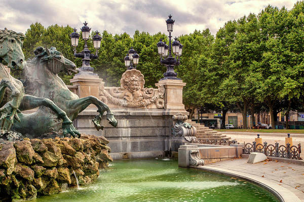 France Art Print featuring the photograph Park And Fountains by Georgia Fowler