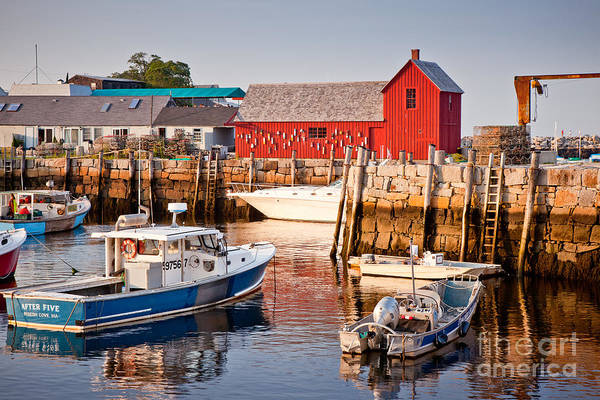 Boat Art Print featuring the photograph Rockport Motif by Susan Cole Kelly