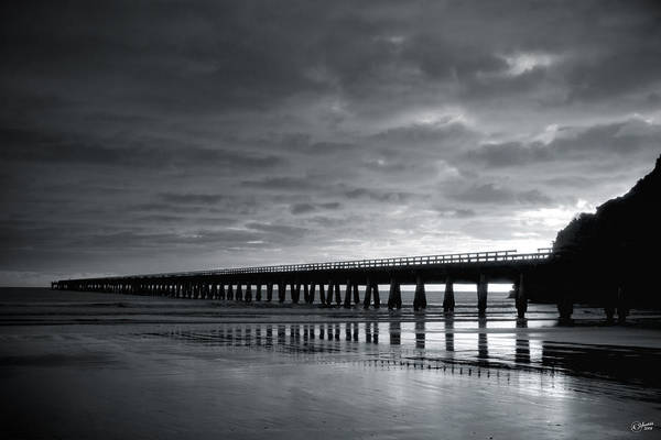 Tolaga Art Print featuring the photograph Tolaga Bay Pier Iv by Andrea Cadwallader