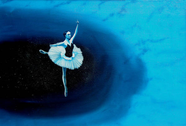 Oil Painting. Ballerina. Ballerina Dancing. Universal Balance. Surreal Impressionism Art Print featuring the painting Balance by Ivan Rijhoff