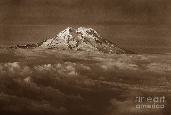 Mountains Art Print featuring the photograph Majestic Mt. Rainier by Michael Ziegler