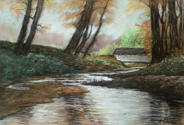 Nature Art Print featuring the pastel Serenity by Michael Scherer